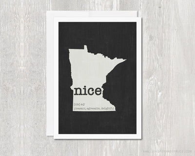 Greeting Card - Minnesota Nice