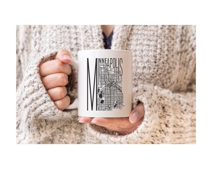 Coffee Mug - Map of Minneapolis
