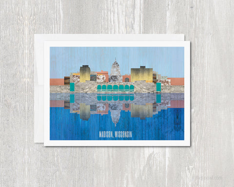 Madison Skyline Greeting Card
