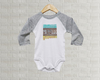 New Mexico Baby Onesie | Romper | Vintage License Plate Art