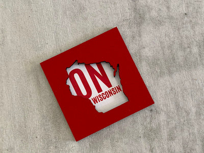 Wisconsin Badgers Football Art Magnet - On Wisconsin