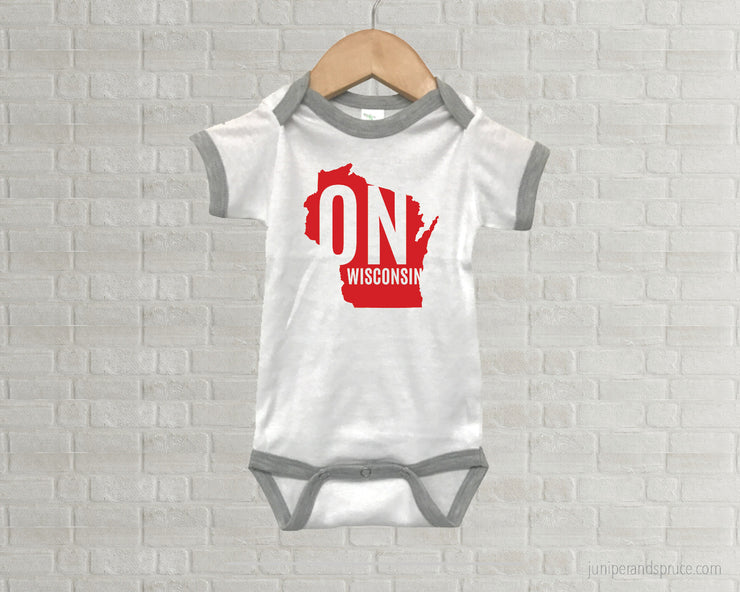 Wisconsin Badgers Baby One Piece - On Wisconsin