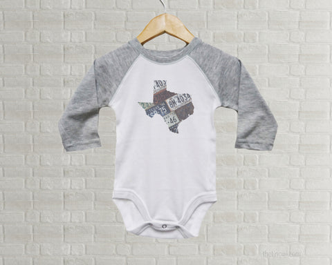 Texas Baby Bodysuit | Romper | Vintage License Plate Art