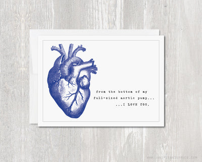 Greeting Card - I Love You Anatomical Heart