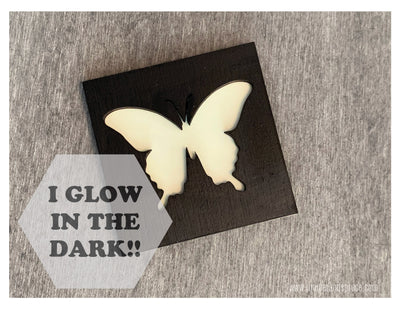 Glow in the Dark Art Magnet - Butterfly