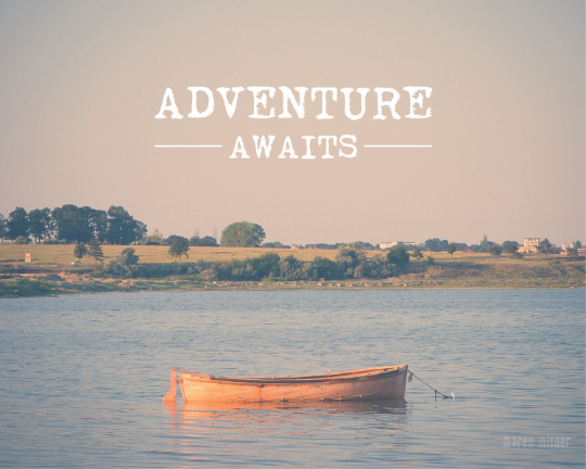 SALE - Adventure Awaits Quote - Print
