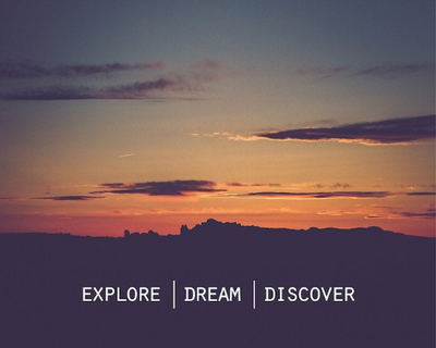 SALE - Explore Dream Discover Quote - Print