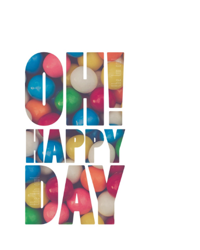 SALE - Oh Happy Day Quote - Print