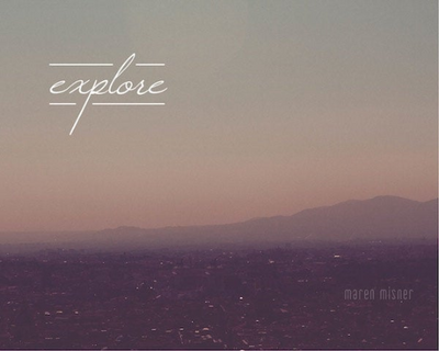 SALE - Explore Quote - Print