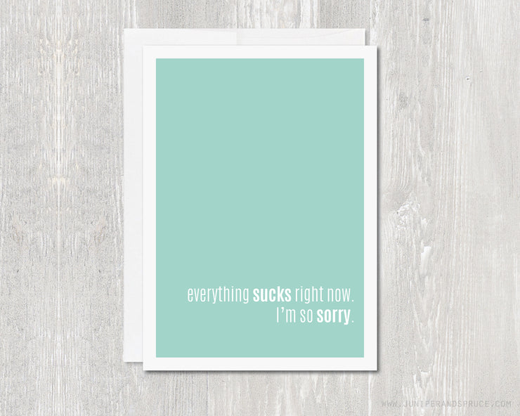 Greeting Card - Everything Sucks Right Now - I'm Sorry