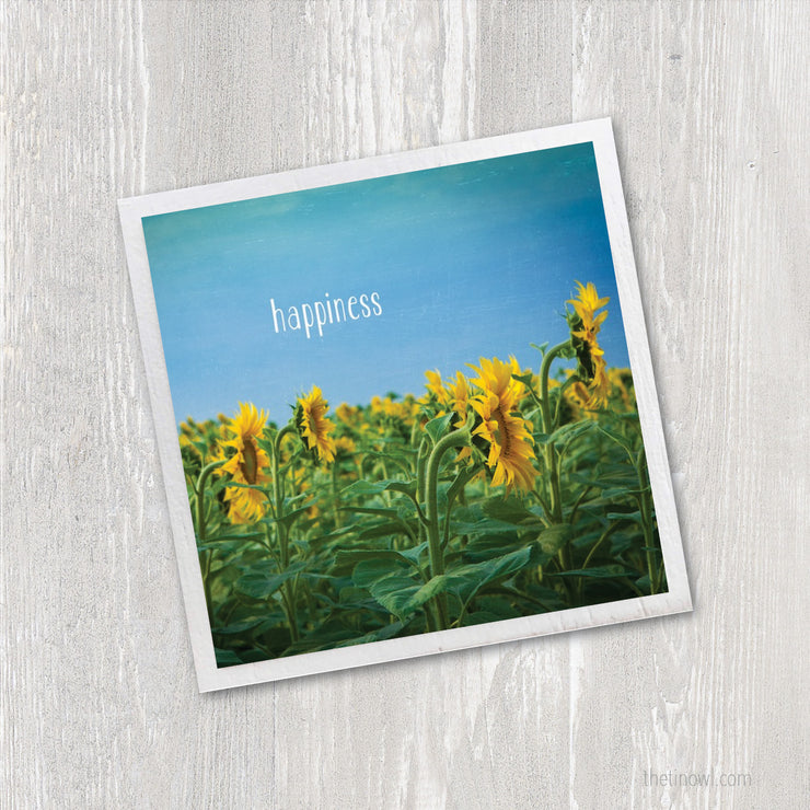 Art Magnet - Sunflowers & Happiness