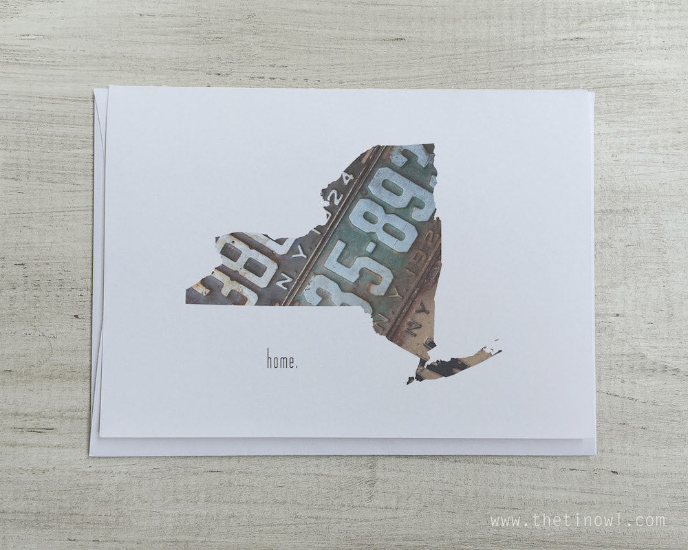 New York Home Greeting Card The Tin Owl