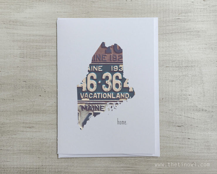 Maine Home Greeting Card