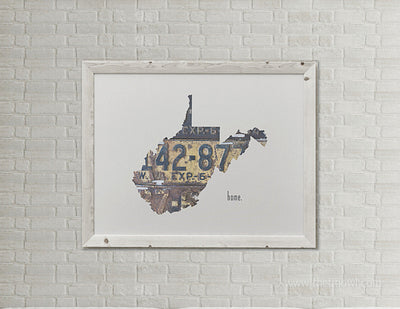 West Virginia Home Print