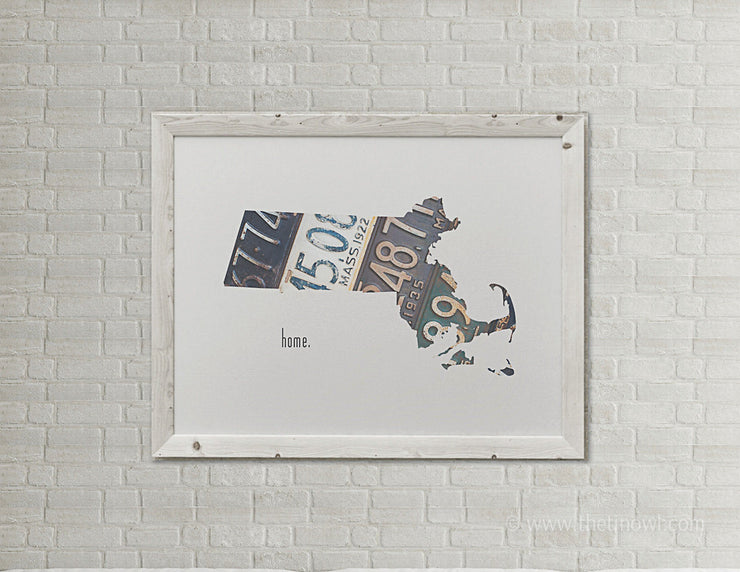Massachusetts Home Print