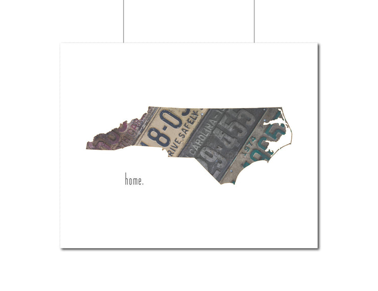 North Carolina Home Print