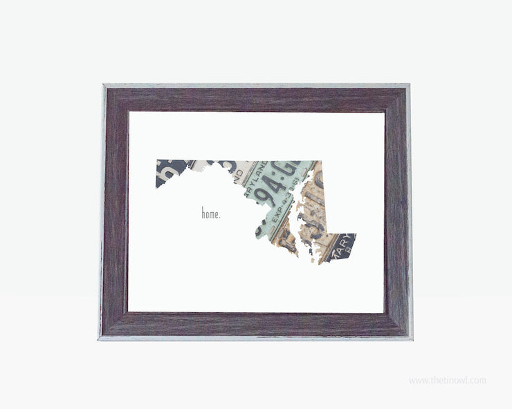 Maryland Home Print