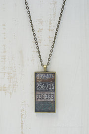 Minnesota License Plates Necklace