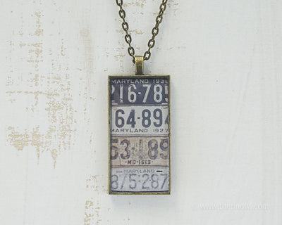 Maryland License Plates Necklace