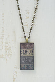 North Carolina License Plates Necklace