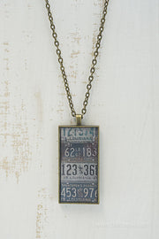 Louisiana License Plates Necklace