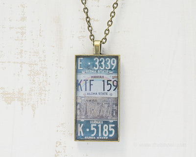 Hawaii License Plates Necklace