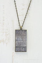 Pennsylvania License Plates Necklace
