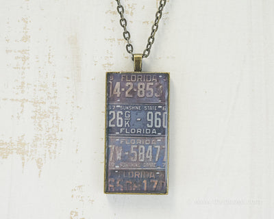 Florida License Plates Necklace
