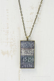 Mississippi License Plates Necklace