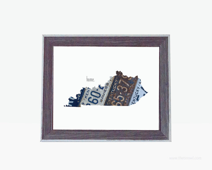 Kentucky Home Print