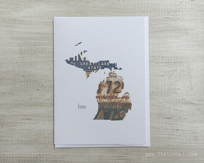 Michigan Home Greeting Card