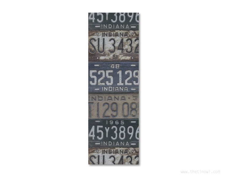 Bookmark - Vintage Indiana License Plates