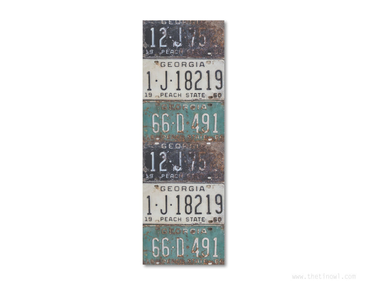 Bookmark - Vintage Georgia License Plates