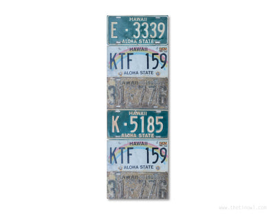 Bookmark - Vintage Hawaii License Plates