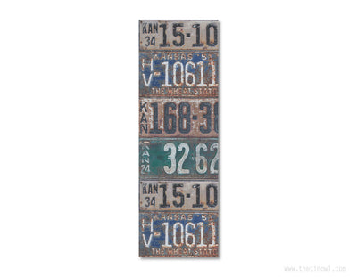 Bookmark - Vintage Kansas License Plates