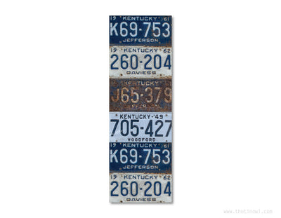 Bookmark - Vintage Kentucky License Plates