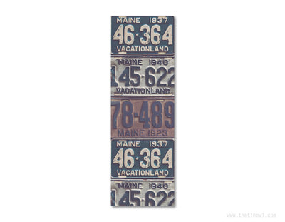 Bookmark - Vintage Maine License Plates