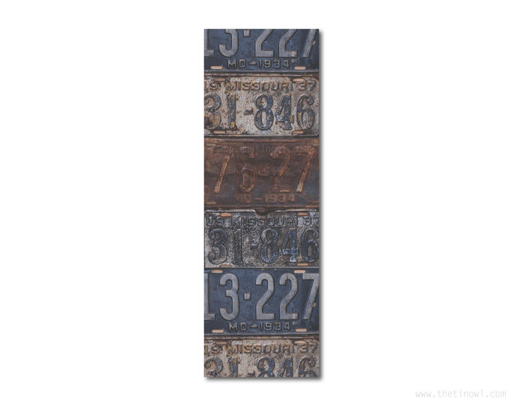 Bookmark - Vintage Missouri License Plates