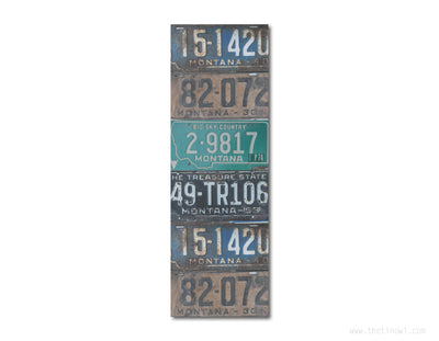 Bookmark - Vintage Montana License Plates