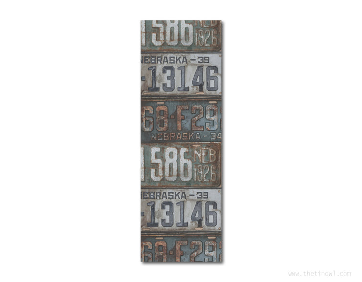 Bookmark - Vintage Nebraska License Plates