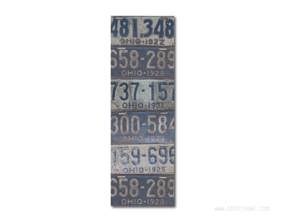 Bookmark - Vintage Ohio License Plates