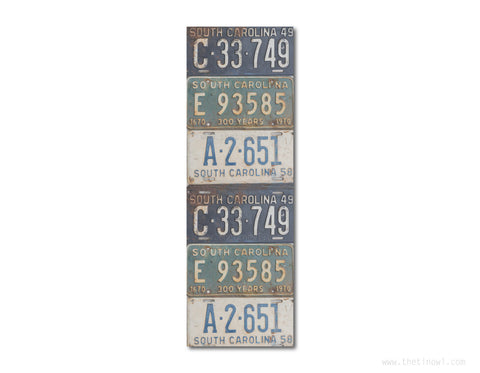 Bookmark -Vintage South Carolina License Plates