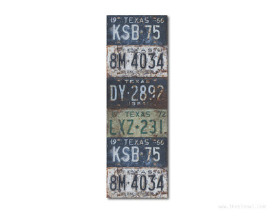 Bookmark - Vintage Texas License Plates