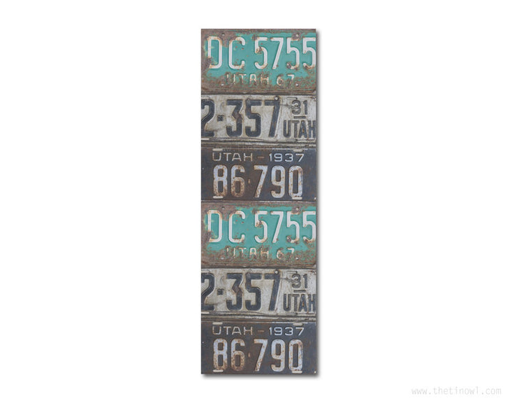 Bookmark - Vintage Utah License Plates