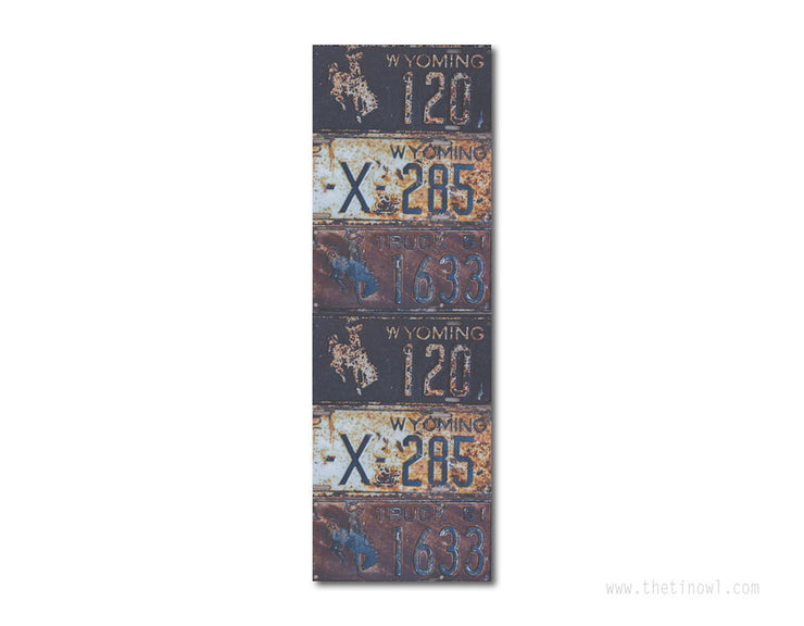 Bookmark - Vintage Wyoming License Plates