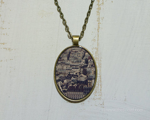 Necklace - Paris Cityscape