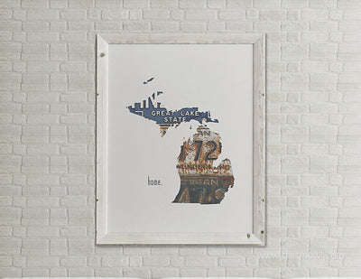 Michigan Home Print