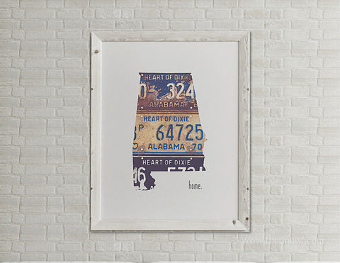 Alabama Home Print