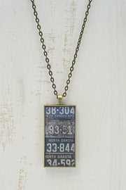 North Dakota License Plates Necklace