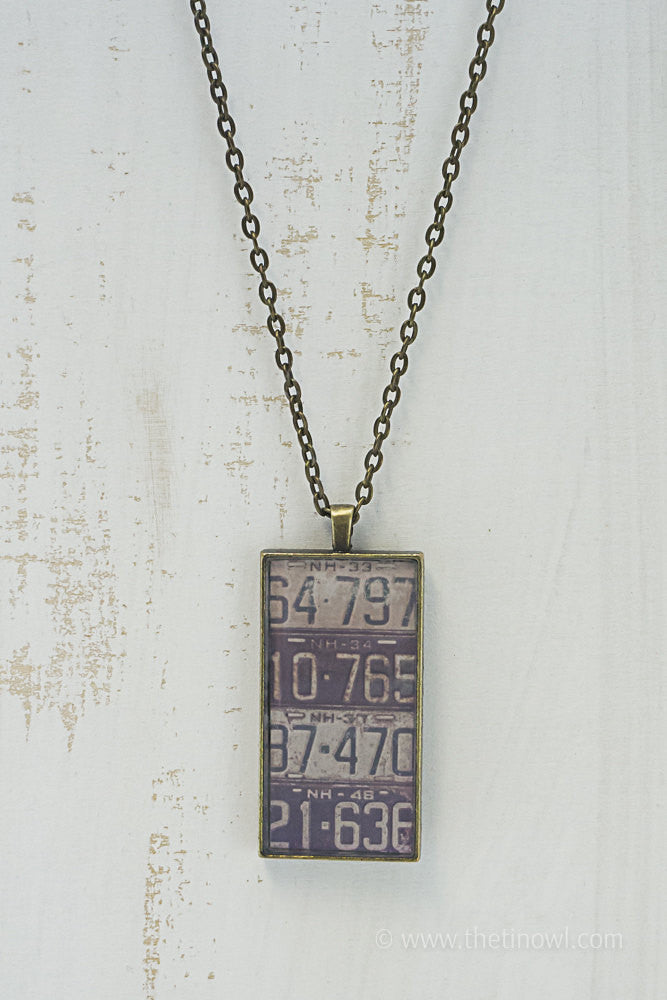 New Hampshire License Plates Necklace